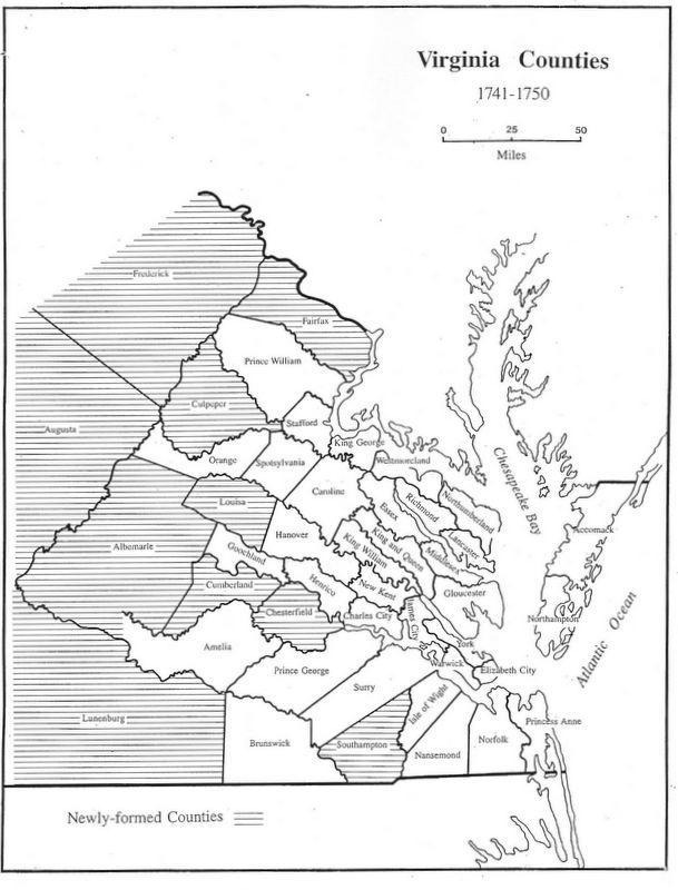Map Of Virginia 1750.Virginia Genealogy Atlas 1634 1895