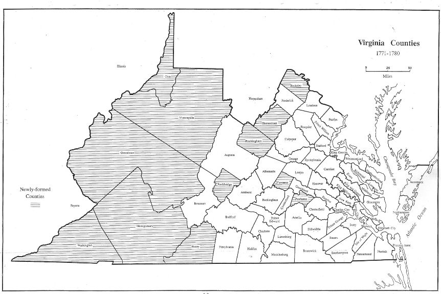Virginia In Maps - Counties of va map