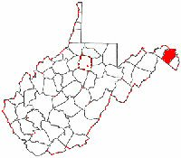 Map of Va: Berkeley County