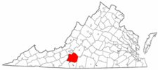 Map of Va: Franklin County