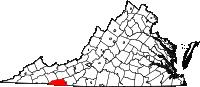 Map of Va: Grayson County