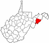 Map of Va: Hardy County