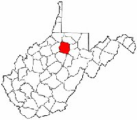 Map of W. Va: Harrison County