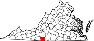 Map of Va: Henry County