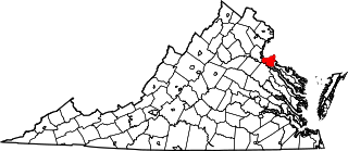 Map of Va: King George County
