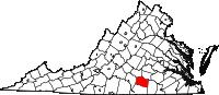 Map of Va: Lunenburg County