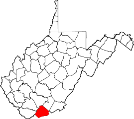 Map of Va: Mercer County