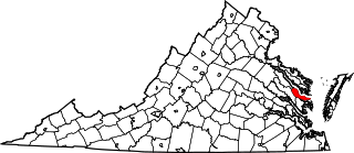 Map of Va: Middlesex County